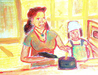 Painting - Little Sous Chef 1 by Richard W Linford