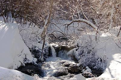 Photograph - Little Spearfish Creek In Snow by Dakota Light Photography By Dakota