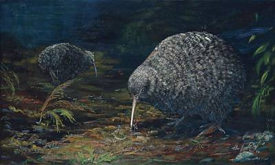 Little Spotted Kiwi Art Print by Peter Jean Caley