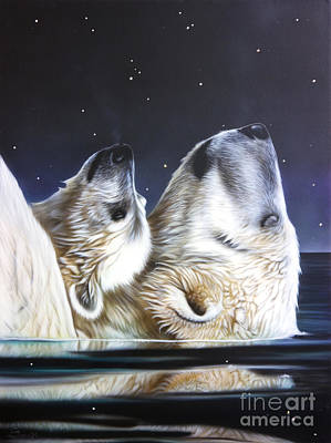 Bear Cub Painting - Little Star by Sandi Baker