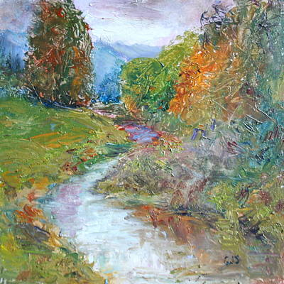 Painting - Little Stream by Quin Sweetman