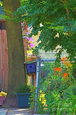 Photograph - Little Summer Garden - Digital Paint 1 by Debbie Portwood