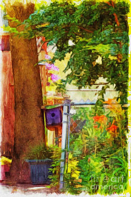 Photograph - Little Summer Garden - Digital Paint 4 by Debbie Portwood
