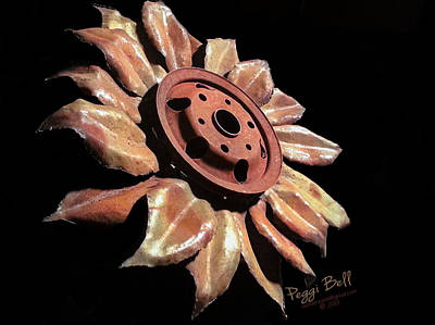 Sculpture - Little Sunflower by Peggi Bell