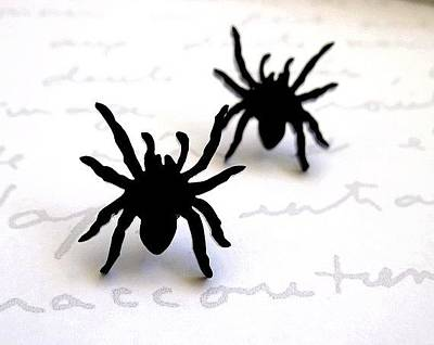 Perspex Jewelry Jewelry - Little Sweet Spider Stud Earrings by Rony Bank