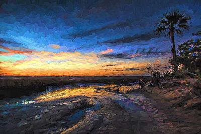 Little Talbot Sunset   Art Print