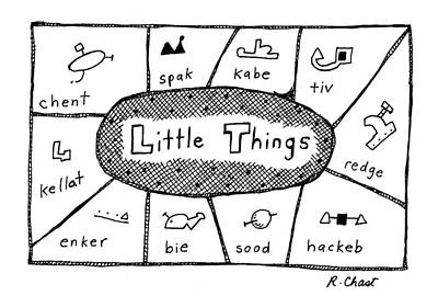 Word Play Drawing - 'little Things' by Roz Chast