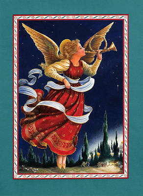 Angel Painting - Little Town Of Bethlehem by Lynn Bywaters