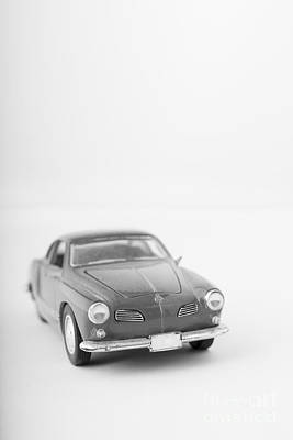Little Toy Car Black And White Art Print by Edward Fielding