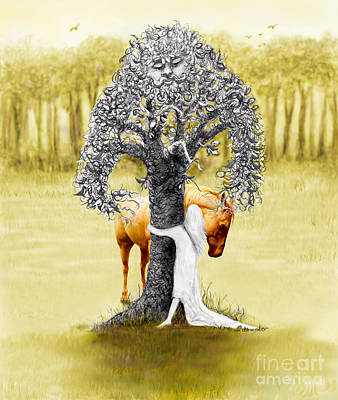 Little Tree Hugger  Original by Sandra Schroeder