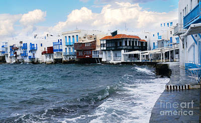 Photograph - Little Venice Mykonos #2 by Haleh Mahbod