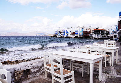 Photograph - Little Venice Mykonos by Haleh Mahbod
