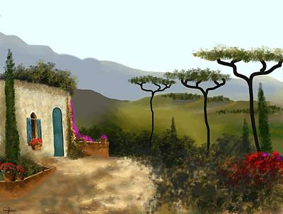Painting - Little Villa Of Tuscany by Larry Cirigliano