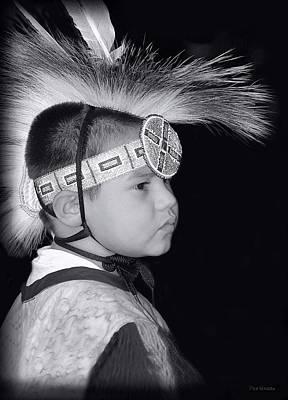Photograph - Little Wacipi Dancer B / W by Dyle   Warren
