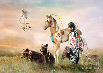 Little Warriors Art Print by Trudi Simmonds