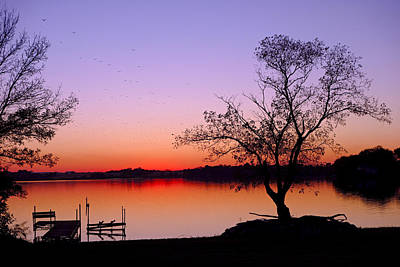Photograph - Little Waverly Lake At Sunset by Robert Meyers-Lussier