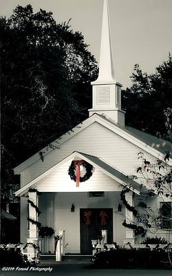 Photograph - Little White Church 2 by Debra Forand