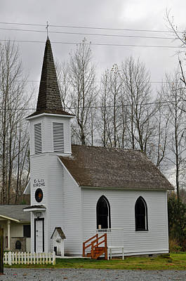 Photograph - Little White Church by Tikvah's Hope