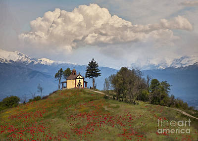 Digital Art - Little White Church by Sharon Foster