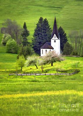 Photograph - Little White German Church by Sharon Foster