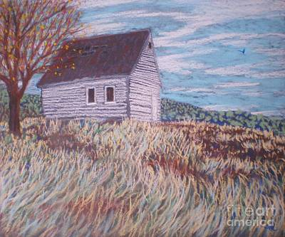 Little White House On The Hill Art Print by Suzanne McKay