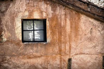 Little Window With Net Curtain On An Old House Art Print by RicardMN Photography