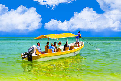 Photograph - Little Yellow Boat Bound For Gulf Coast Adventure by Mark E Tisdale