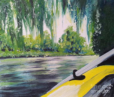 Painting - Little Yellow Boat by Abbie Shores
