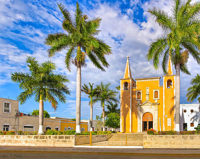 Photograph - Little Yellow Church In Barrio Santa Ana by Mark E Tisdale