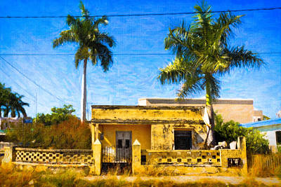 Photograph - Little Yellow House In Mexico by Mark E Tisdale