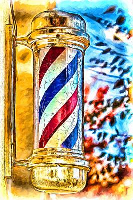 Asheville Mixed Media - Littlest Barber Pole by John Haldane