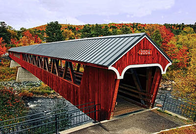 Covered Bridge Photograph - Littleton Covered Bridge by Marcia Colelli