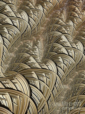 Wire Digital Art - Litz Wire Abstract by John Edwards