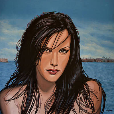 Wet Painting - Liv Tyler by Paul Meijering
