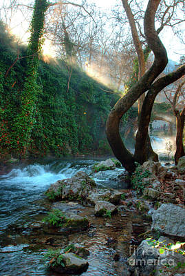 Greek Photograph - Livadia Waterfalls by Deborah Smolinske