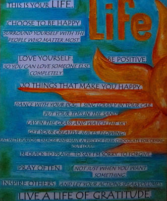 Painting - Live A Life Of Gratitude by Patti Schermerhorn