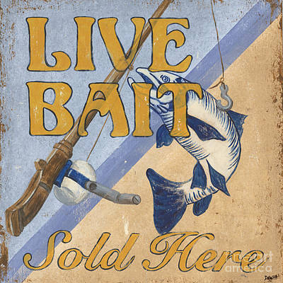Graphic Design Painting - Live Bait by Debbie DeWitt