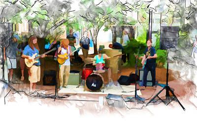 Mixed Media - Live From Pritchard Park by John Haldane