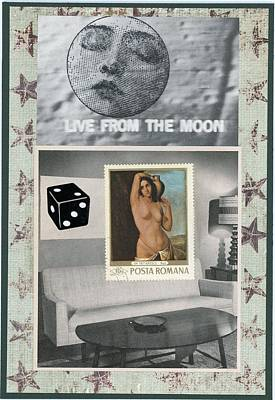 Montage Mixed Media - Live From The Moon by Stan Askew