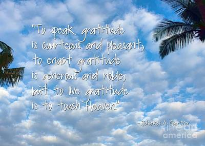 Overhang Digital Art - Live Gratitude by Peggy Hughes