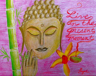 Painting - Live In The Present Moment by Artistic Indian Nurse