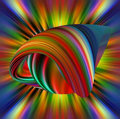 Reconstruction Digital Art - Live Knot by Rick Wolfryd