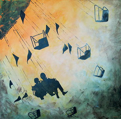 Rollercoaster Painting - Live Laugh Love by Nina Sunde