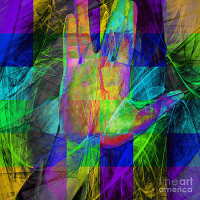 Live Long And Prosper 20150302v2 Color Squares Sq Art Print by Wingsdomain Art and Photography