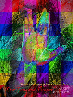Live Long And Prosper 20150302v2 Color Squares With Text Art Print by Wingsdomain Art and Photography
