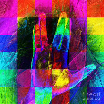 Live Long And Prosper Spock 20150302v3 Color Squares Sq Art Print by Wingsdomain Art and Photography