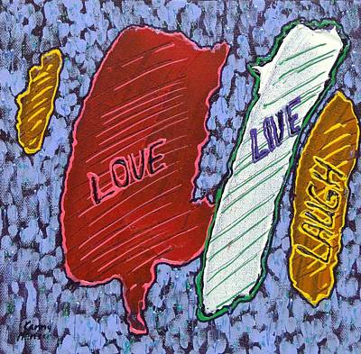 Mixed Media - Live Love Laugh 3 by Kenny Henson