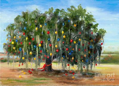Live Oak Christmas Art Print