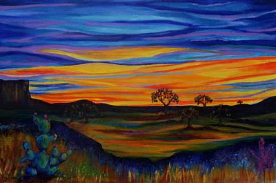 Live Oak Trees Painting - Live Oaks At Dusk by Kathy Peltomaa Lewis