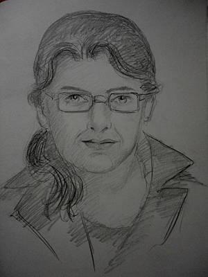 Painting - Live Portrait by Hihani Gautam